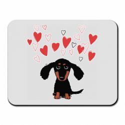 Килимок для миші I love dachshund