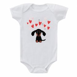 Дитячий бодік I love dachshund