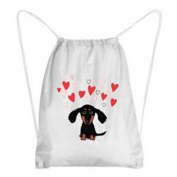 Рюкзак-мішок I love dachshund