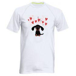 Чоловіча спортивна футболка I love dachshund