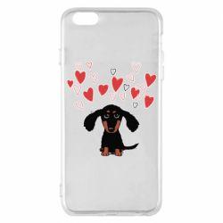 Чохол для iPhone 6 Plus/6S Plus I love dachshund