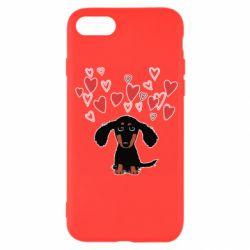 Чохол для iPhone 7 I love dachshund