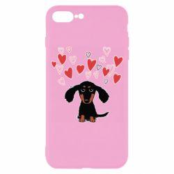 Чохол для iPhone 7 Plus I love dachshund