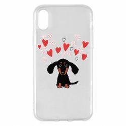 Чохол для iPhone X/Xs I love dachshund