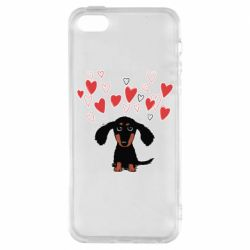 Чохол для iphone 5/5S/SE I love dachshund