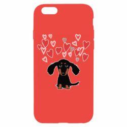 Чохол для iPhone 6/6S I love dachshund