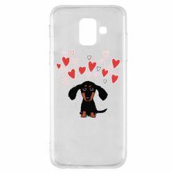 Чохол для Samsung A6 2018 I love dachshund