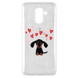 Чохол для Samsung A6+ 2018 I love dachshund