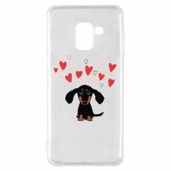Чохол для Samsung A8 2018 I love dachshund