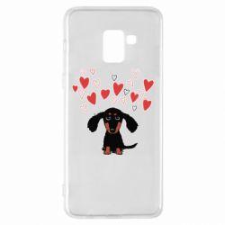 Чохол для Samsung A8+ 2018 I love dachshund