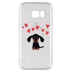 Чохол для Samsung S7 I love dachshund