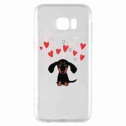 Чохол для Samsung S7 EDGE I love dachshund