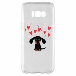 Чохол для Samsung S8+ I love dachshund