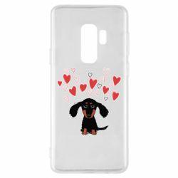 Чохол для Samsung S9+ I love dachshund