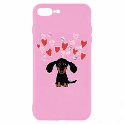 Чохол для iPhone 8 Plus I love dachshund