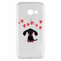 Чохол для Samsung A3 2017 I love dachshund
