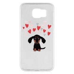 Чохол для Samsung S6 I love dachshund