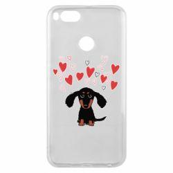 Чохол для Xiaomi Mi A1 I love dachshund