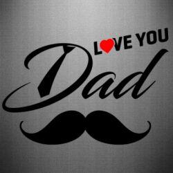 Наклейка I Love Dad