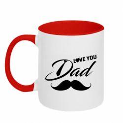 Кружка двоколірна 320ml I Love Dad