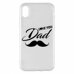 Чохол для iPhone X/Xs I Love Dad