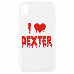 Чехол для iPhone XR I love Dexter