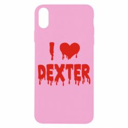 Чехол для iPhone X/Xs I love Dexter