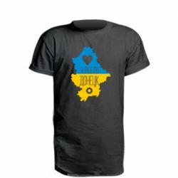Удлиненная футболка I love Donetsk, Ukraine