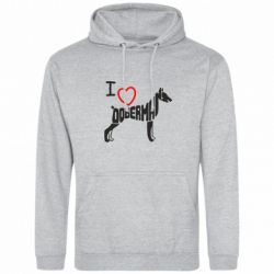 Толстовка I love doberman