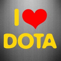 Наклейка I love Dota - FatLine