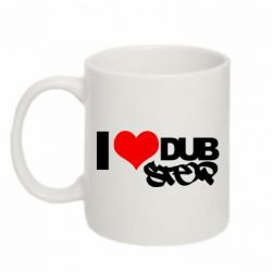 Кружка 320ml I love Dub Step