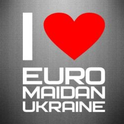 Наклейка I love Euromaydan Ukraine - FatLine