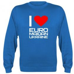 Реглан (свитшот) I love Euromaydan Ukraine - FatLine