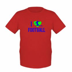 Детская футболка I love football - FatLine