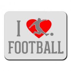 Коврик для мыши I love football - FatLine