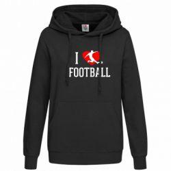 Женская толстовка I love football - FatLine