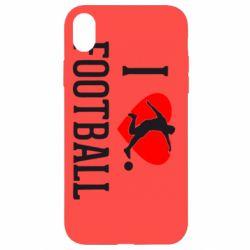Чохол для iPhone XR I love football