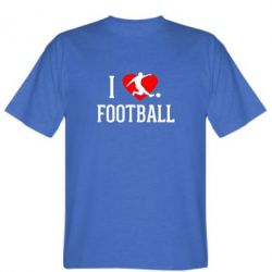 Мужская футболка I love football - FatLine