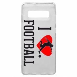 Чохол для Samsung S10+ I love football