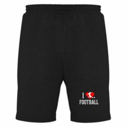 Мужские шорты I love football - FatLine