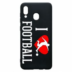 Чохол для Samsung A20 I love football