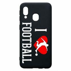 Чохол для Samsung A40 I love football