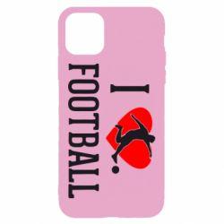 Чохол для iPhone 11 I love football