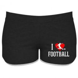 Женские шорты I love football - FatLine