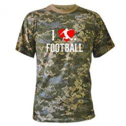 Камуфляжная футболка I love football - FatLine