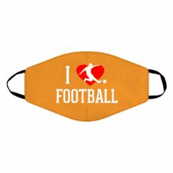 Маска для обличчя I love football