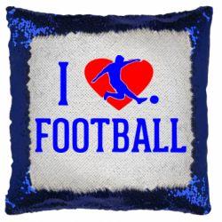Подушка-хамелеон I love football