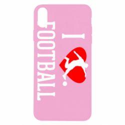 Чохол для iPhone X/Xs I love football