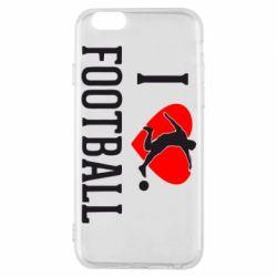 Чохол для iPhone 6/6S I love football
