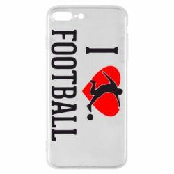 Чохол для iPhone 8 Plus I love football
